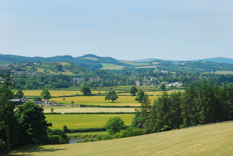 Melrose and Tweed Valley from Gattonside royalty free stock images