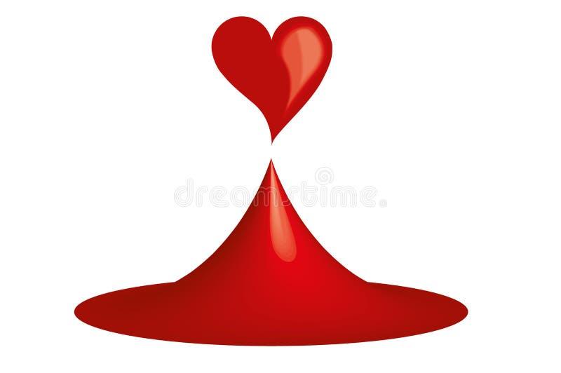 Melt Heart Drop royalty free stock photography