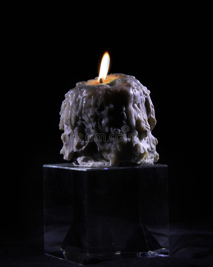 Download Melted candle stock image. Image of dark, flame, light - 28471517