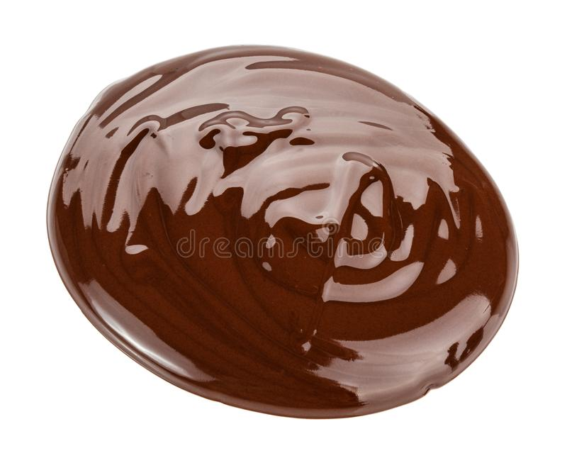 Melted chocolate. Isolated on white background with clipping pat stock images
