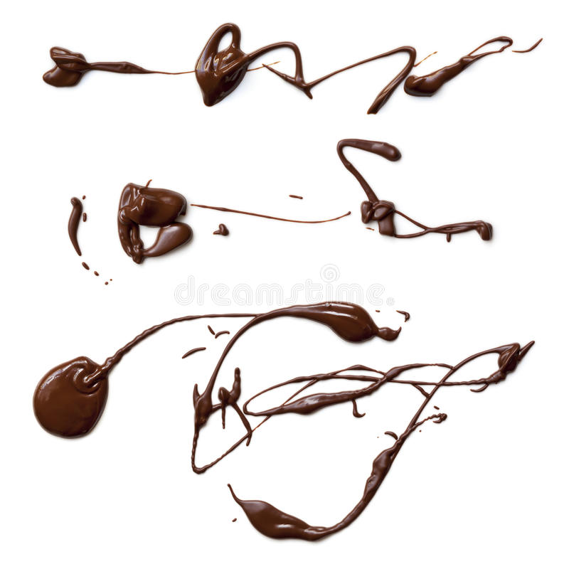 Download Melted Chocolate Splashes stock image. Image of variety - 30400131