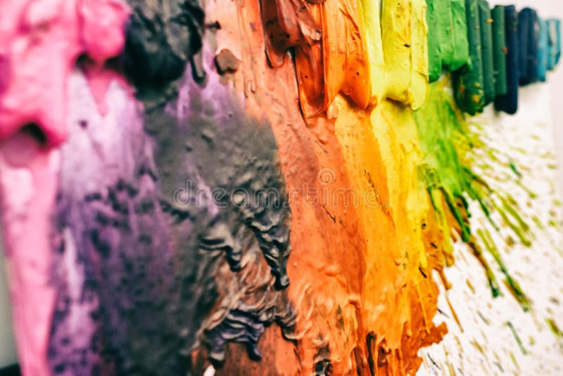 Melted colorful crayons royalty free stock photos