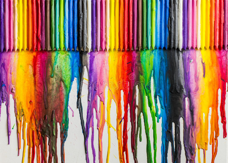 Melted Crayons Colorful Abstract vector illustration