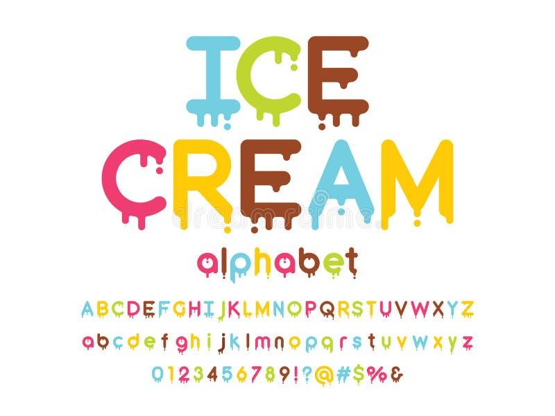 Melted font vector illustration