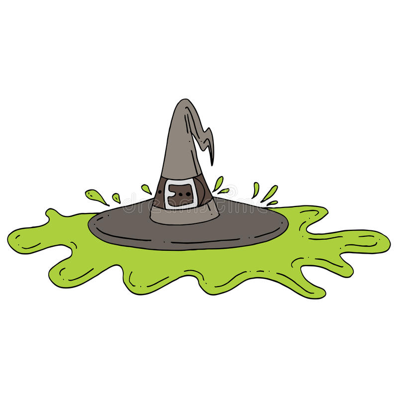 Melted Witch Stock Vector