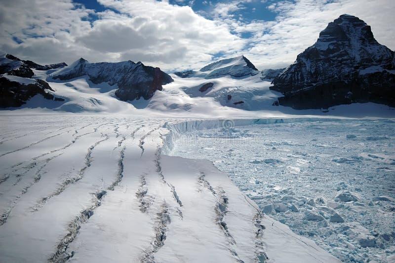 Melting Antarctic glacier royalty free stock photo