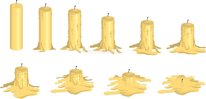 Melting candle stock illustration. - 41.7KB