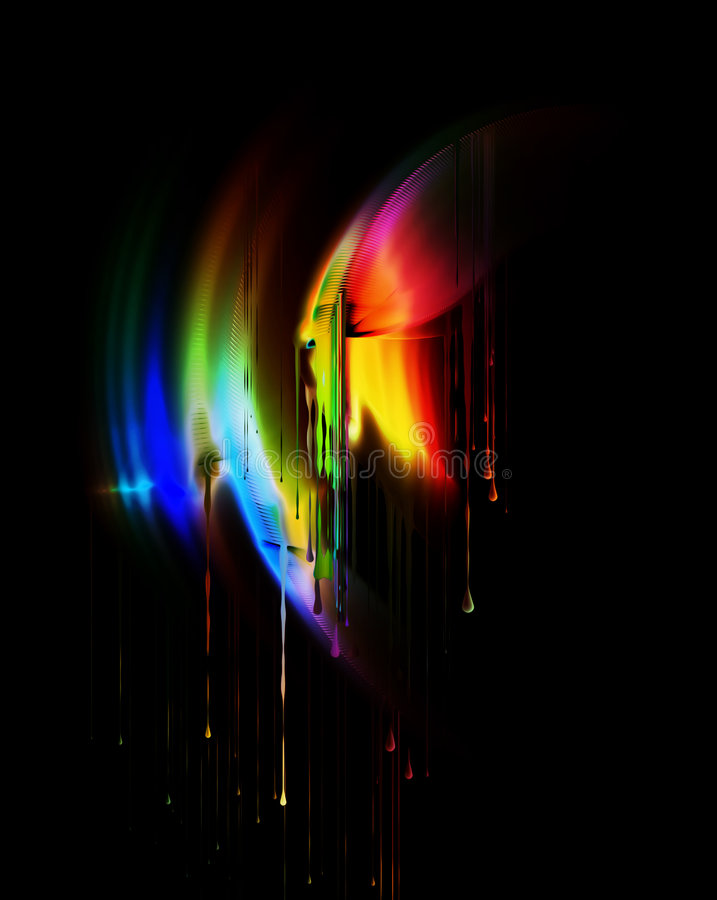 Download Melting Colors, Dripping Rainbow Stock Illustration - Image: 6815752