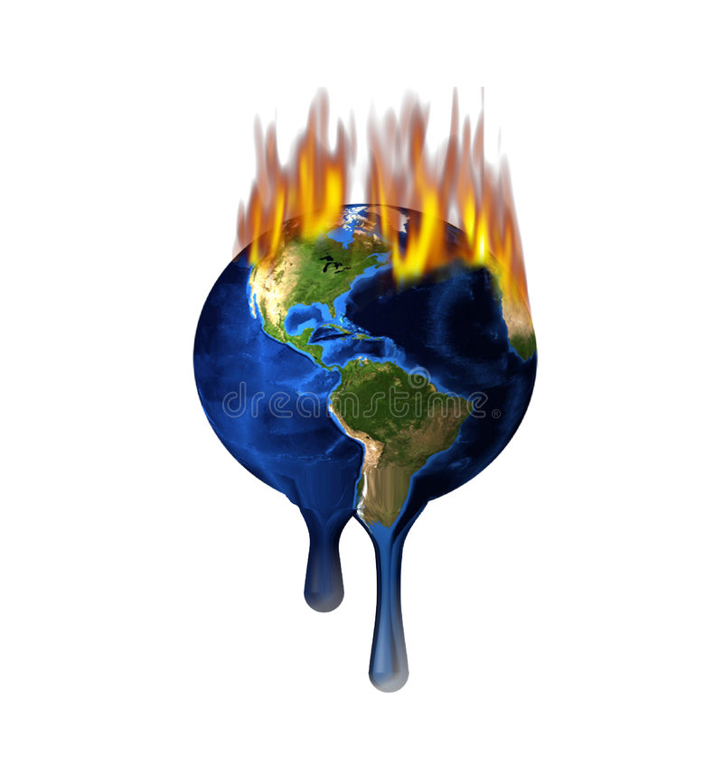 Melting Earth stock illustration