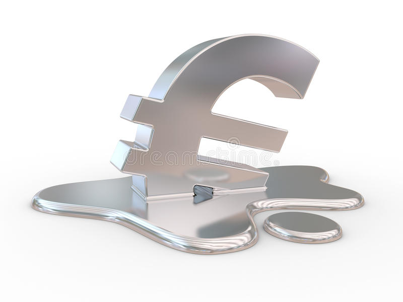 Download Melting euro sign. stock illustration. Illustration of depression - 22425375