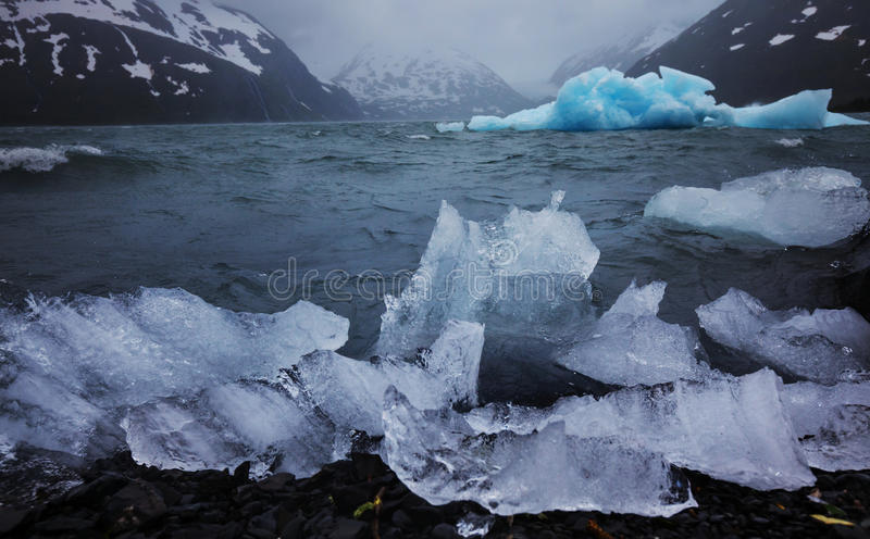 Melting Glacier in Alaska royalty free stock photos