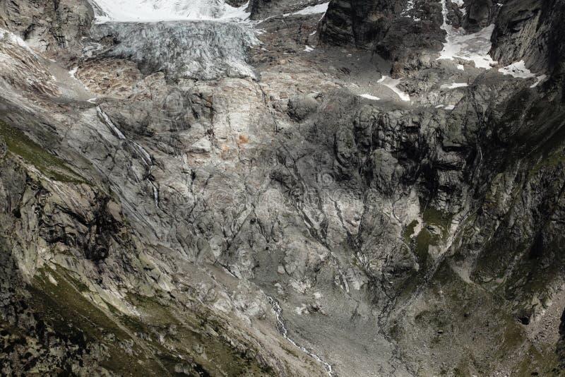 Melting glacier on italian alps stock photography