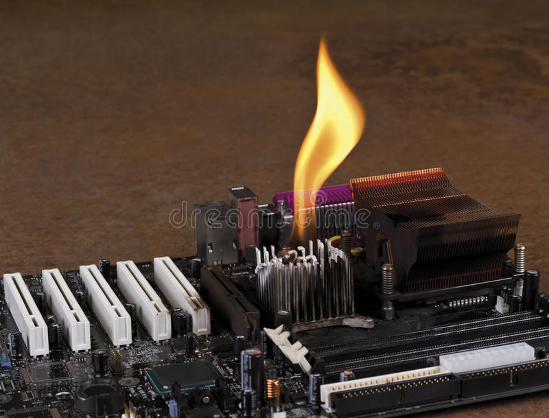 Download Melting Heat Sink On Computer Board Royalty Free Stock Images - Image: 22292539