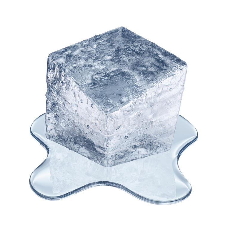 Download Melting ice cube stock illustration. Image of frost, bubble - 25048313