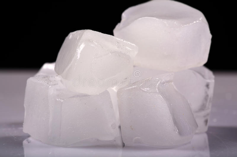 Melting ice cubes royalty free stock images