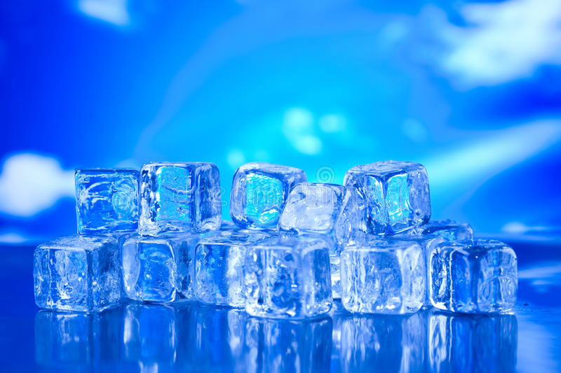 Melting ice cubes, cold and fresh concept.  royalty free stock images