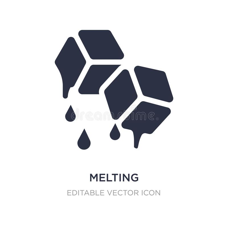 melting icon on white background. Simple element illustration from Nature concept vector illustration