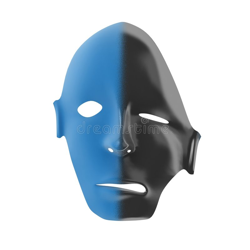Download Melting Mask stock illustration. Image of half, plastic - 4534663