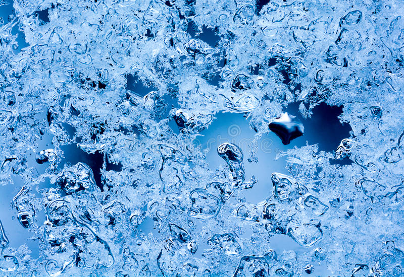 Melting Snow Crystals royalty free stock images
