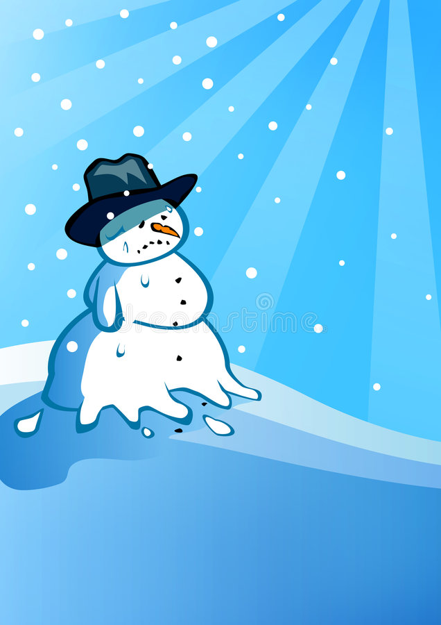 Download The melting snowman stock illustration. Illustration of shadow - 7577481
