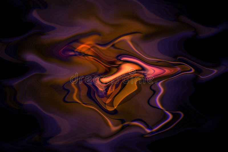 Melting swirls of colour stock photography