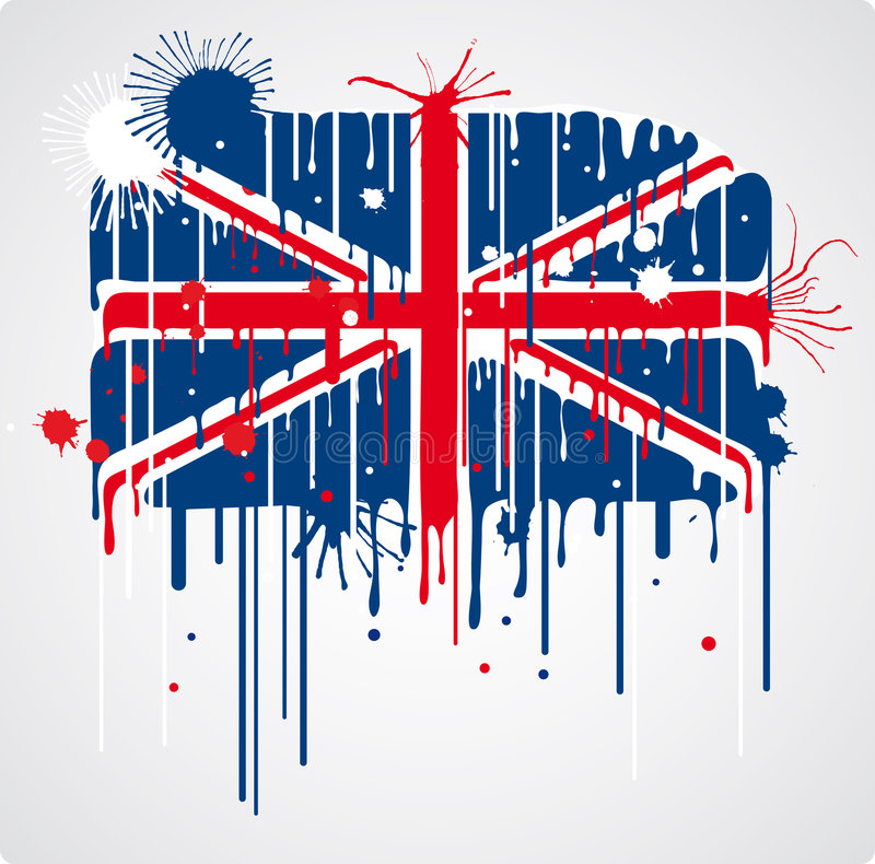 Download Melting UK flag stock vector. Image of spray, contrasts - 6008235