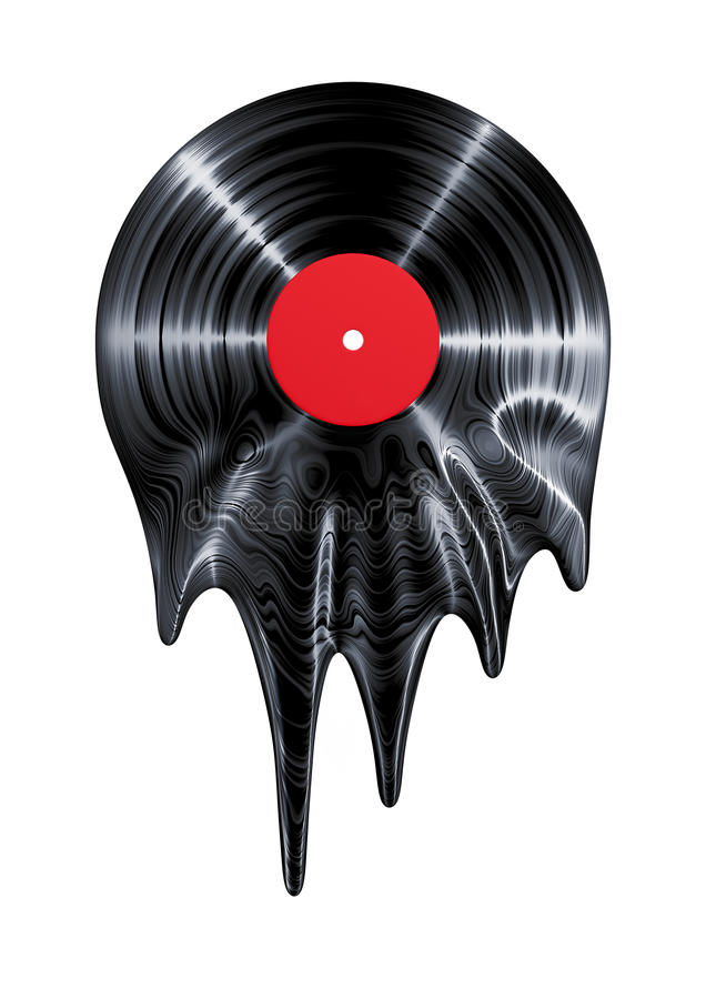 Melting Vinyl Record Stock Illustration Illustration Of