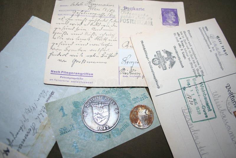 Memória da segunda guerra mundial 1941-1945 De arquivo unassembled do capitão Kovalev imagens de stock royalty free