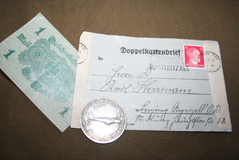 Memória da segunda guerra mundial 1941-1945 De arquivo unassembled do capitão Kovalev imagem de stock
