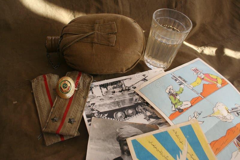 Memória da terra afegã e do exército 40 soviético fotos de stock royalty free