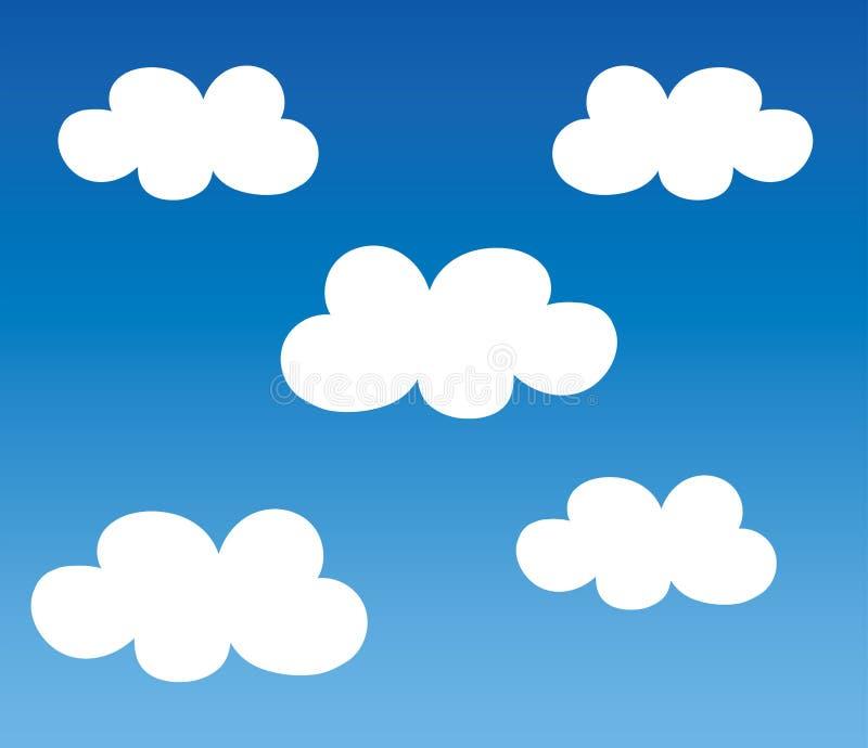 Memória de backup do armazenamento da nuvem de Digitas ilustração royalty free