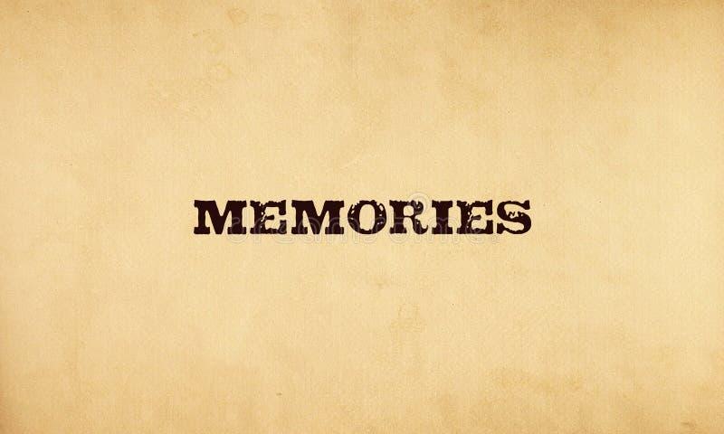 Memórias ilustração stock