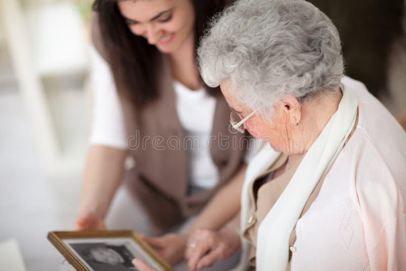 Memórias de minha avó imagem de stock