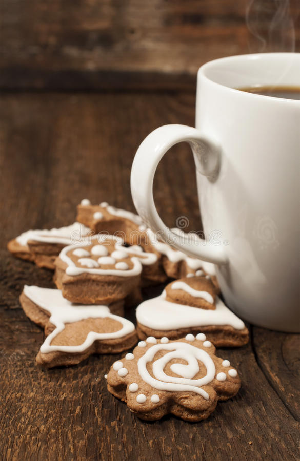 Download Memade Cookies With A Cup Of Coffee Stock Photo - Image: 29648318