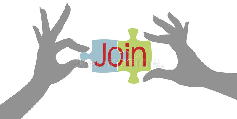 Download Member Hands Join Together Puzzle Stock Vector - Image: 28132390