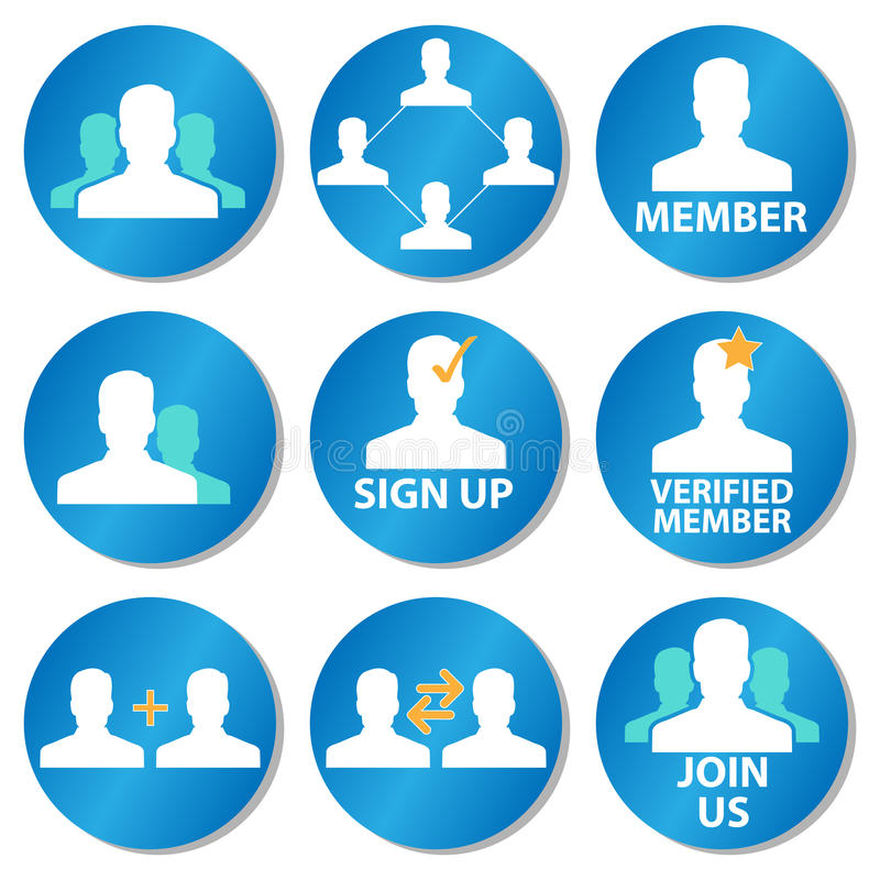 Member icons vector illustration