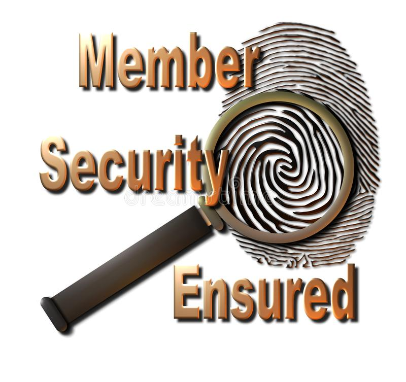 Member Security Ensured royalty free illustration