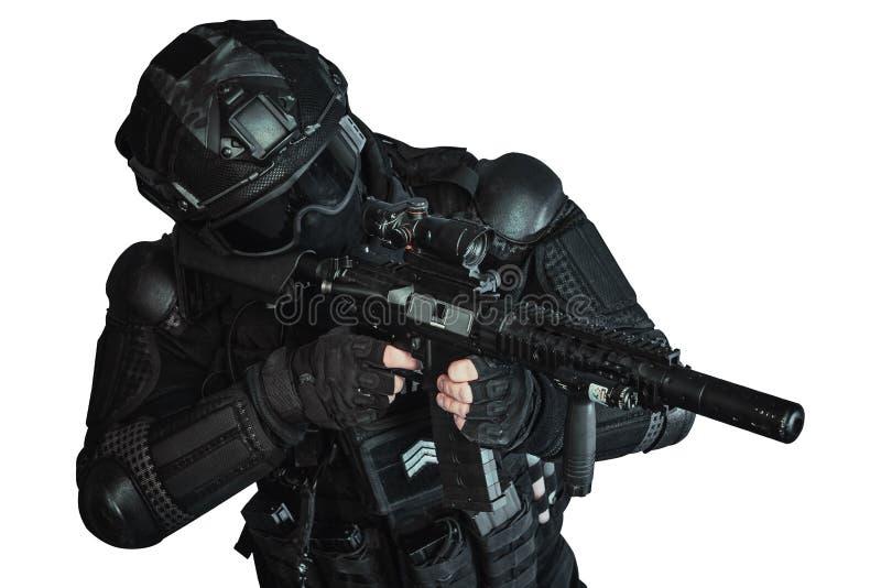 Member of the SWAT team stock image