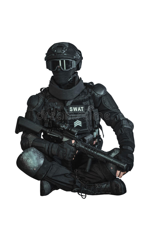 Member of the SWAT team royalty free stock photo