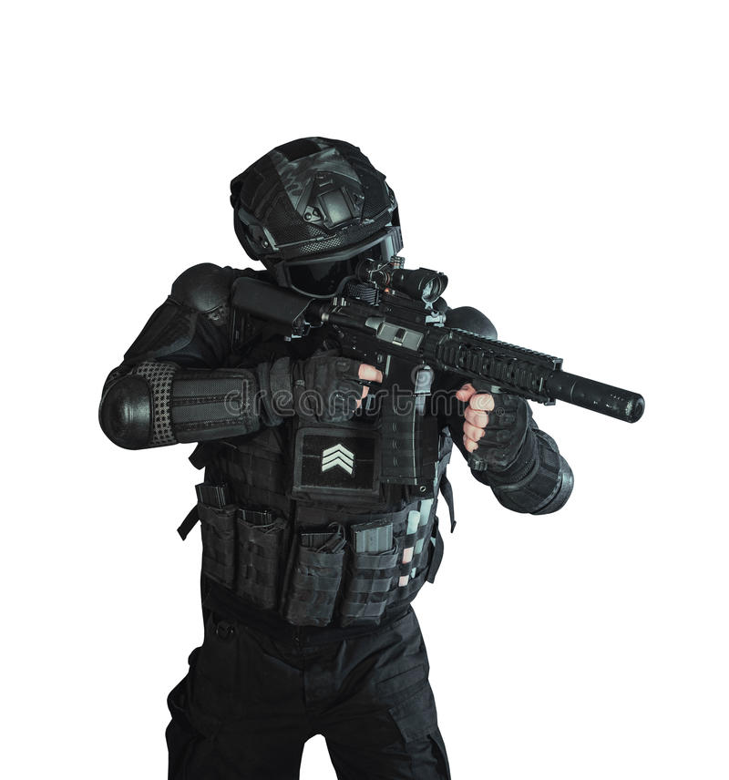 Member of the SWAT team royalty free stock photos