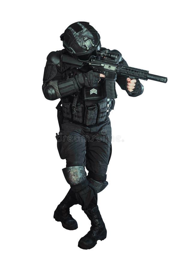 Member of the SWAT team royalty free stock image