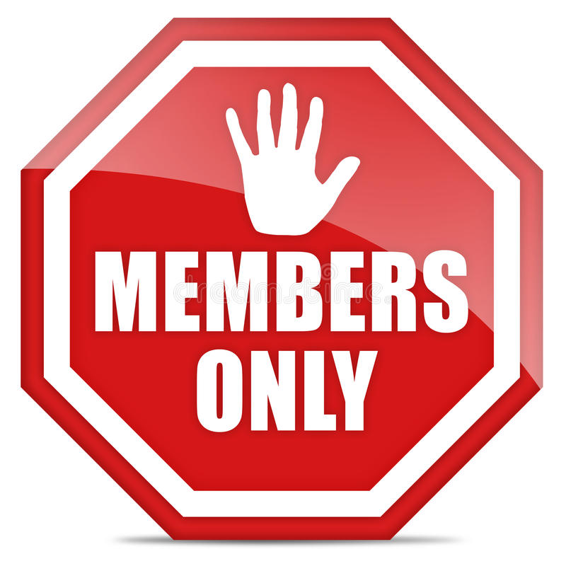 Members only royalty free illustration