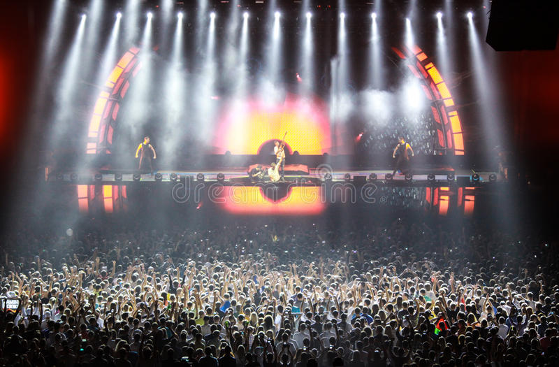Download Members Of ARMIN ONLY: Intense Show With Armin Van Buuren In Minsk-Arena On February 21, 2014 Editorial Stock Photo - Image: 39821358