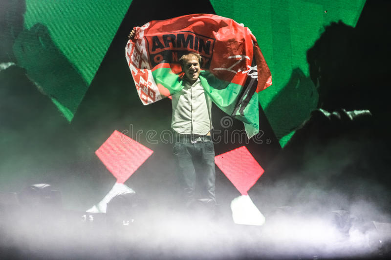 Download Members Of ARMIN ONLY: Intense Show With Armin Van Buuren In Minsk-Arena On February 21, 2014 Editorial Stock Image - Image: 39822549