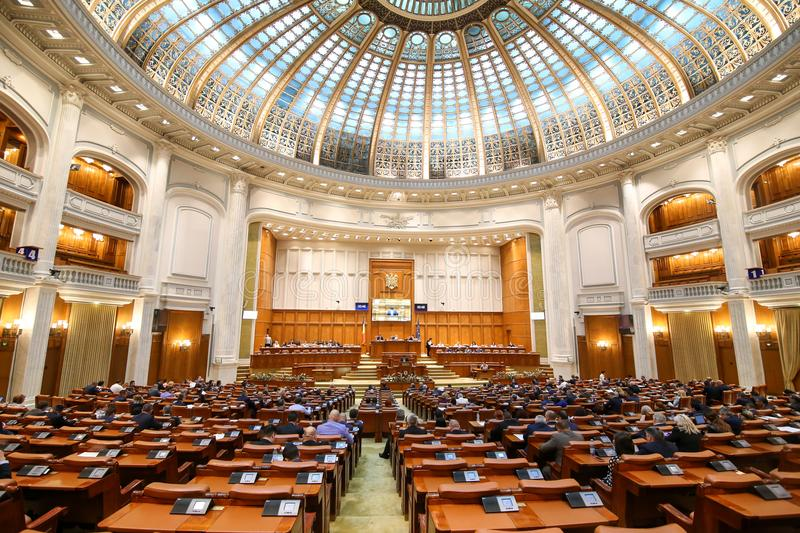 Members of the Chamber of Deputies attend a meeting royalty free stock photos