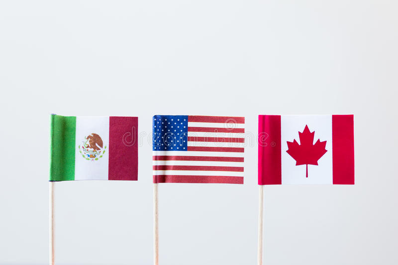 Members of nafta royalty free stock photography
