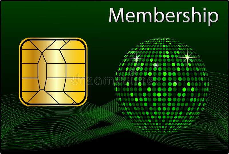 Membership Card royalty free illustration