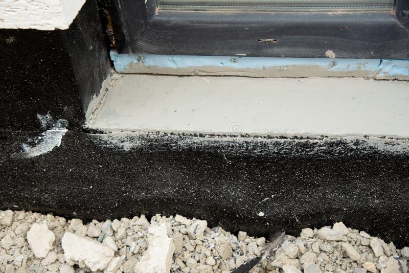 Membrana waterproofing de Oncrete para paredes subterrâneas do porão fotografia de stock