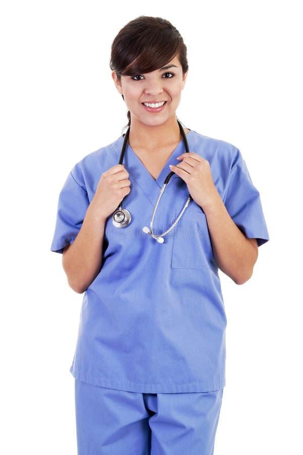 Membre du personnel soignant féminin images libres de droits