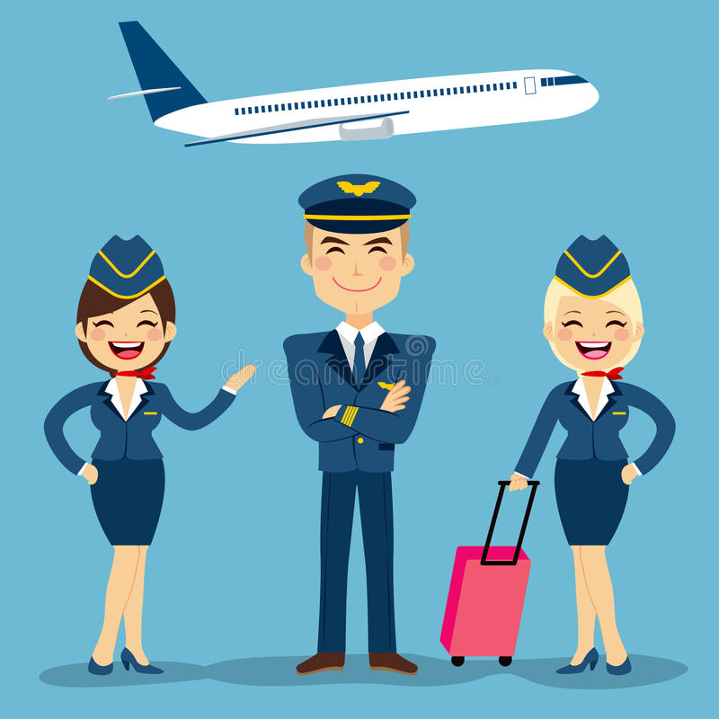 Membres d'équipage d'aviation illustration stock